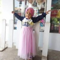 Long Tutu Skirt Bayi 1-3Tahun | Rok Tutu Panjang baby hijabers - bpink