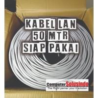Kabel LAN UTP Merk SPECTRA 50MTR CAT 5E Plus Crimping Konektor RJ45 AM