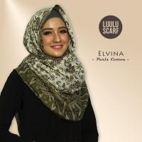 ELVINA - by Luulu Scarf - Jilbab Pashmina Motif Import Katun