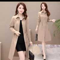 Casual Women Long Trench Coat 2019New Spring Korean style Oversize