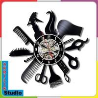 Jam Dinding Unik Akrilik 3D Barbershop and Salon 50x50cm