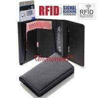 Dompet Mini Tempat Kartu ATM Smart Slim Wallet Credit Card Holder RFID - Navy