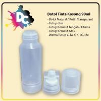 Botol Tinta 90ml, Botol Tinta Bening, Botol Tinta Refill Printer Epson