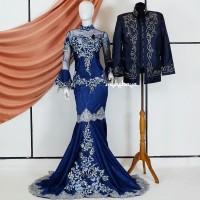 Baju Gaun Kebaya Pengantin Mermaid Jacquard Wedding Dress