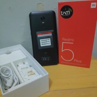 xiaomi Redmi 5 plus TAM 4/64 Black bekas garansi resmi fullset