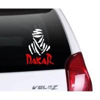 Stiker Mobil Cutting Stiker Kaca Body Mobil LogonSimbol Rally Dakar
