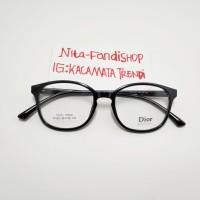 kacamata frame pria wanita 17021 size 49-18-143 paket lensa crmc