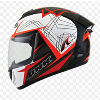 Helm INK CL MAX Seri 3 White FIRE RED FLUO