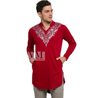 VM Baju Koko Jumbo Gamis Koko Panjang merah Maroon - GK-03