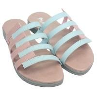 Dr. Kevin Women Flat Sandals 571-522 2 Color Options - Blue Salem Crea