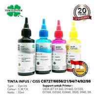 Veneta System Ciss Ink HP Black,Cyan,Magenta,Yellow 70ML-Tinta Infus