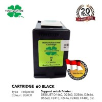Veneta Inkjet HP 60 CC640W - Remanufactured - Black