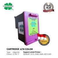 Veneta System Cartridge Inkjet HP678 (CZ108AA) Color - Remanufactured