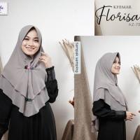 Jilbab syari murah terbaru Abu silver Khimar Florisa by Azamka