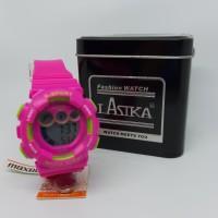 Jam Tangan Anak Sekolahan Cewek Lasika Pink Murah Anti Air