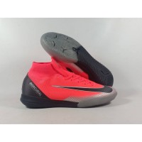Sepatu Futsal Mercurial Superfly VI Bright Crimson IC Replika Impor