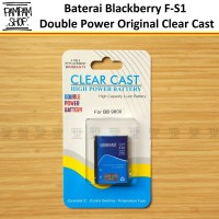 Baterai Clear Cast Double Power Original Blackberry FS1 F-S1 Torch 980