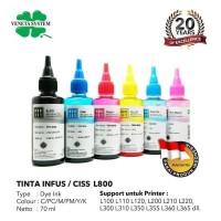 TINTA INFUS / CISS EPSON L800 SET- 70 ML