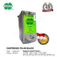 Veneta System Cartridge Inkjet Canon PG40 Black - Remanufactured