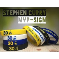 STEPHEN CURRY MVP SIGN WRISTBAND GELANG NBA BASKETBALL UNDER ARMOR - Putih