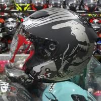 Helm KYT Djmaru Venom Black Grey Doff Matt Dj maru