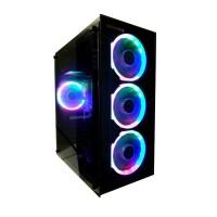 Imperion E3 Gaming PC Case ATX Multicolor LED Fan