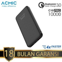 (Black Carbon) Acmic C10Pro 10.000mAh Quick Charge 3.0 Powerbank
