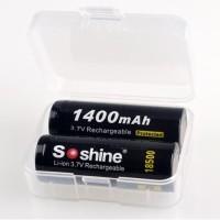 Transparent Battery Case for 18500 - Transparan