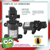 Pompa Air DC 12 Volt Penguat Tekanan Air High Pressure Mini