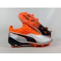 Sepatu Bola One 19.1 Syn Silver Orange FG Replika Impor