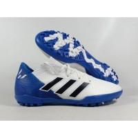 Sepatu Futsal Nemeziz 18.3 White Blue TF Replika Impor