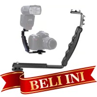 L Bracket Stand Holder Grip Camera Hot Shoe Flash Led Ligth Mic Kamera