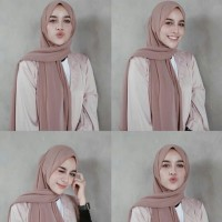DISKON!! Jilbab Pasmina Bella Square Pashmina Polos