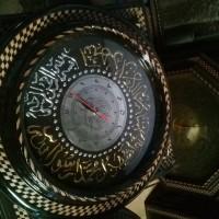 Jual Jam Dinding Ukir Kaligrafi Bentuk Lingkaran Diameter 50 Cm