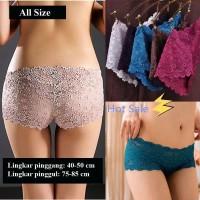 Pakaian Dalam Wanita Celana Dalam Model G-String Bahan Lace
