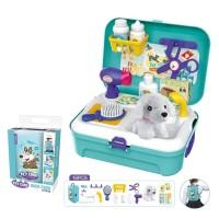 Mainan Anak - Pet Care Back Pack Play Set Boneka Salon Perempuan