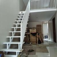 jual tangga besi model rebah modern minimalis - kota