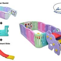 Paket lengkap perosotan Anak dan Pagar Bayi