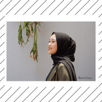 Jilbab Pashmina Warna Hitam Cantik