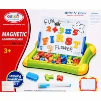 Mainan Edukasi Magnetic Learning Case Drawing Board 2 in 1 classroom