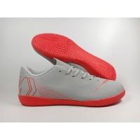 Sepatu Futsal Vapor XII Academy Wolf Grey Light Crimson Replika Impor