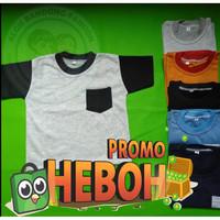 Kaos Polos Anak Laki Laki Baju Pocket Saku