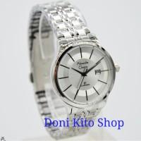 Jam Tangan Wanita Original Alexandre Christie AC8348 Silver White