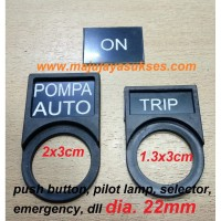 Custom Label pilot lamp push button 22mm, label + name plate panel