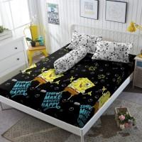 Kintakun Sprei D'luxe - 180 x 200 B2 (King) - Black Sponge