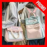 Casual Bag - Tas Multifungsi Wanita ( Bisa Ransel Selempang Jinjing )