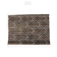 Crisscross Seagrass Placemat in Grey (Set of 2)
