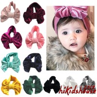 H-c Bandana Turban Pita Besar Lembut untuk Aksesoris Rambut Bayi Anak