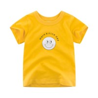 Boy T-shirt Kids Smile Emoji Baby Children Tops Short Sleeve Boys Clot