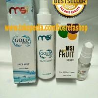 MSI Gold Beauty Face Mist paket hemat+MSI Fruit Serum